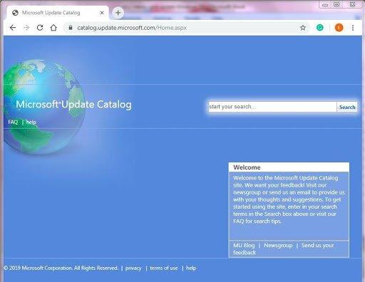 Catalog Update Windows