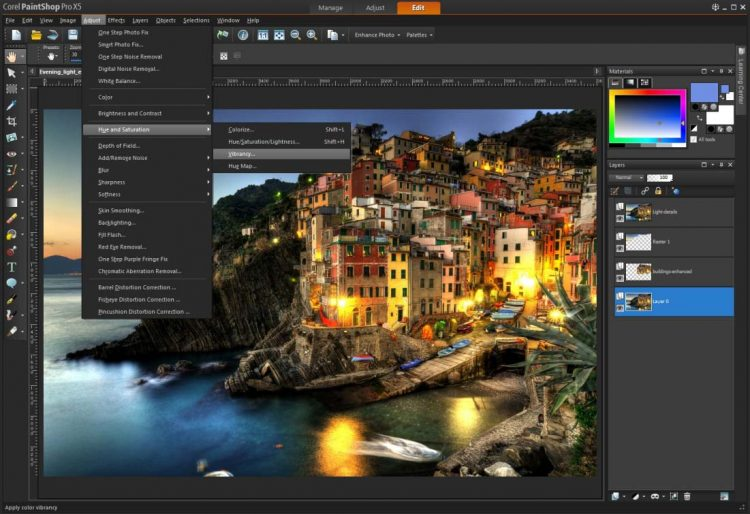 Editing Foto di PaintShop Pro