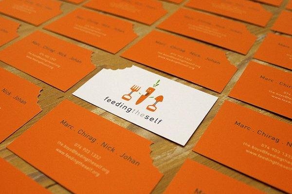 kartu nama oranye
