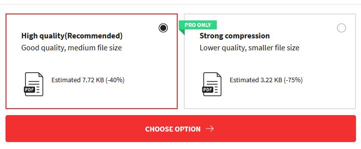 pilih tingkat kompres pdf