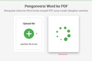 memproses word ke pdf