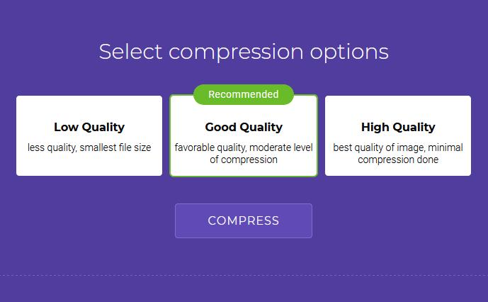pilih kualitas kompres