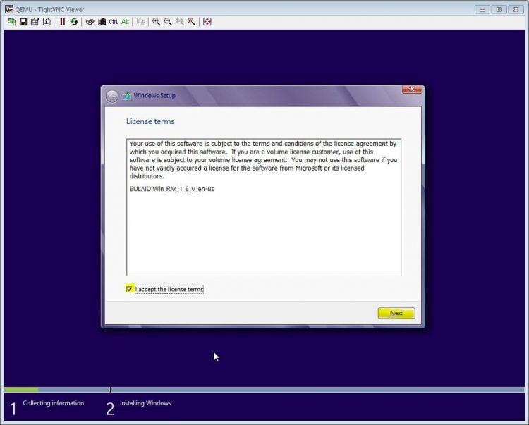Masukkan product key Windows 8