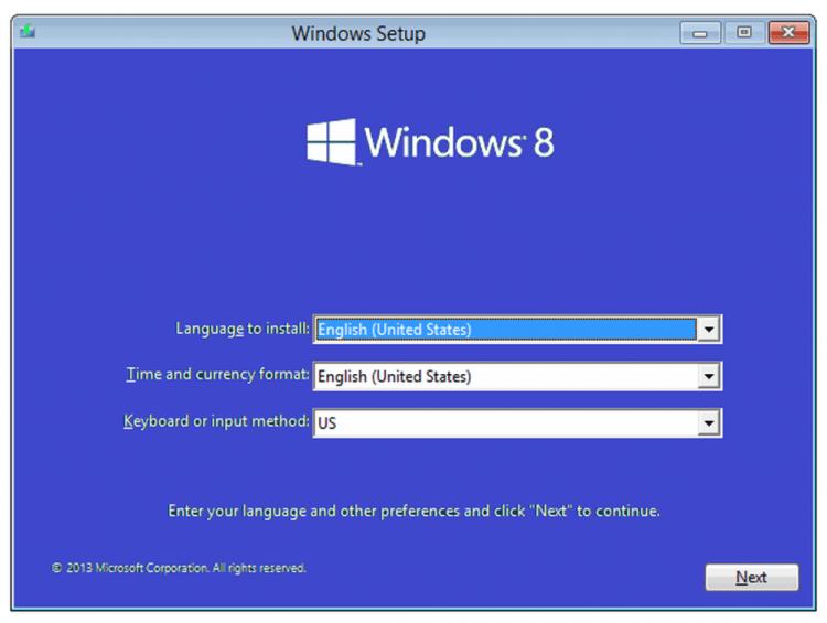 Proses Instal Windows 8