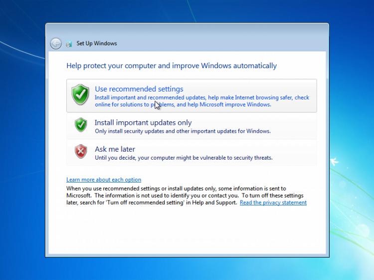 langkah instal windows 7